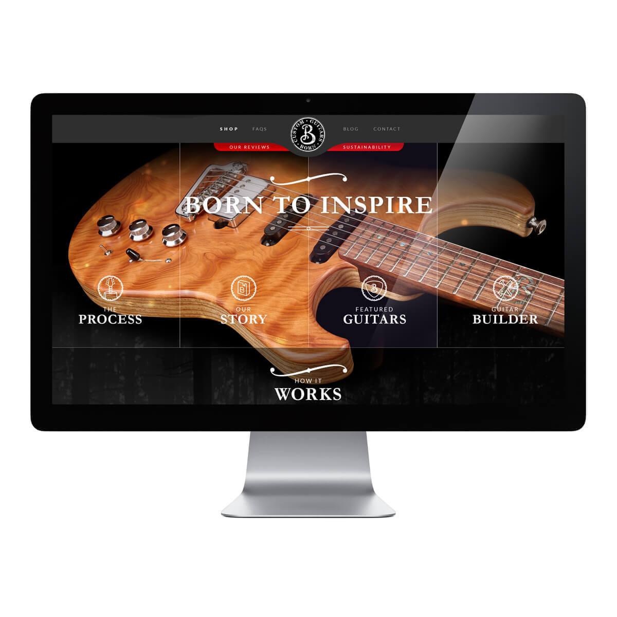 Born Guitars Website Hero Image