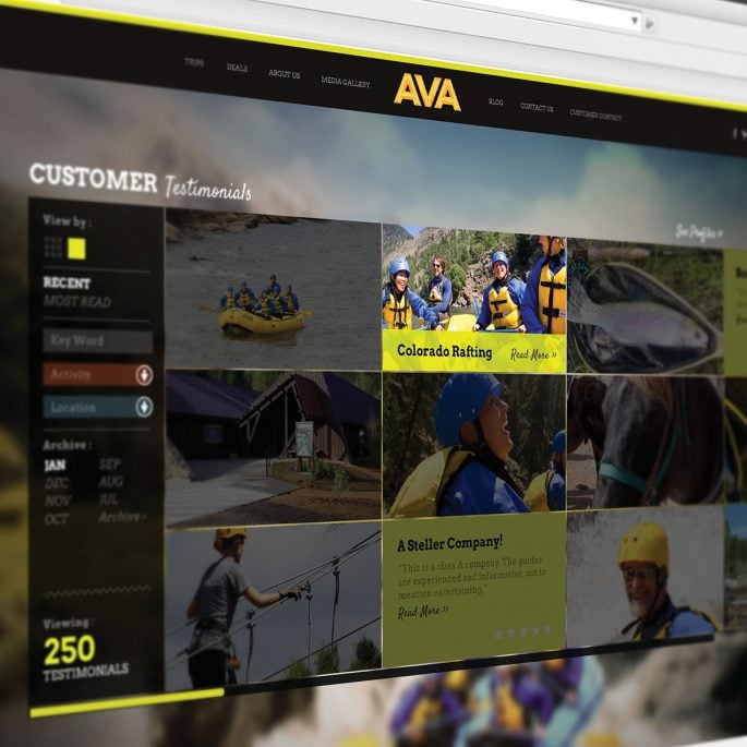 AVA Rafting Website