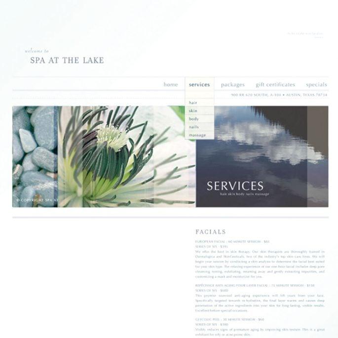 Spa at the Lake Branding Website