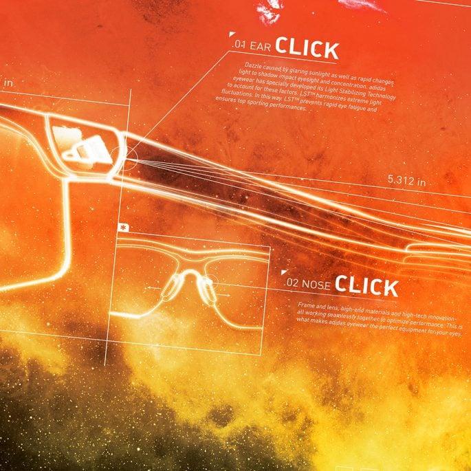 adidas eyewear orange