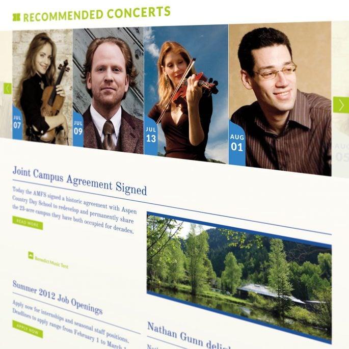 Aspen Music Festival Website