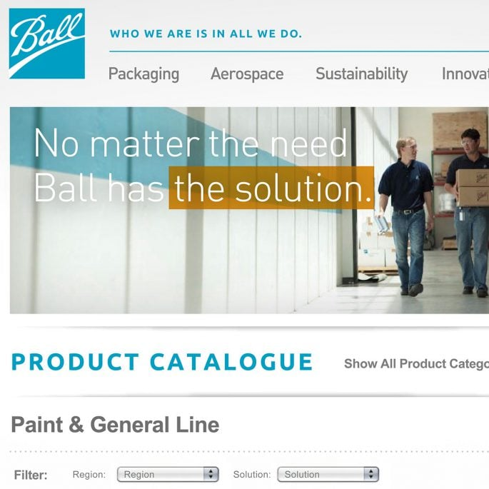 Ball Corporation Website