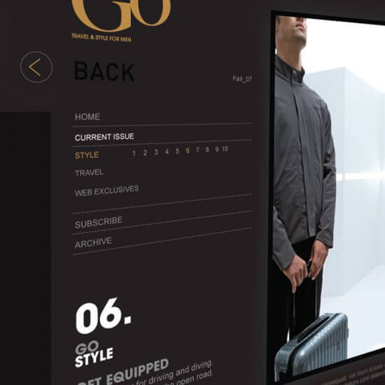 Outside Go Website Concepts