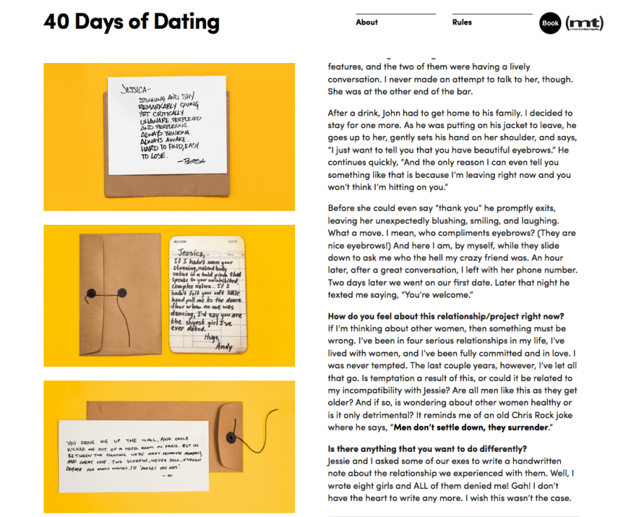 40 days of dating project