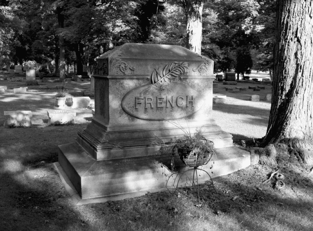 French family plot just a few miles from the mill.