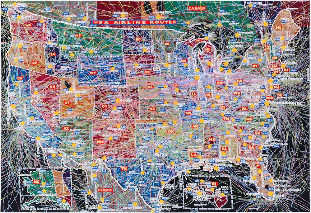 USA map depicting airline routes.