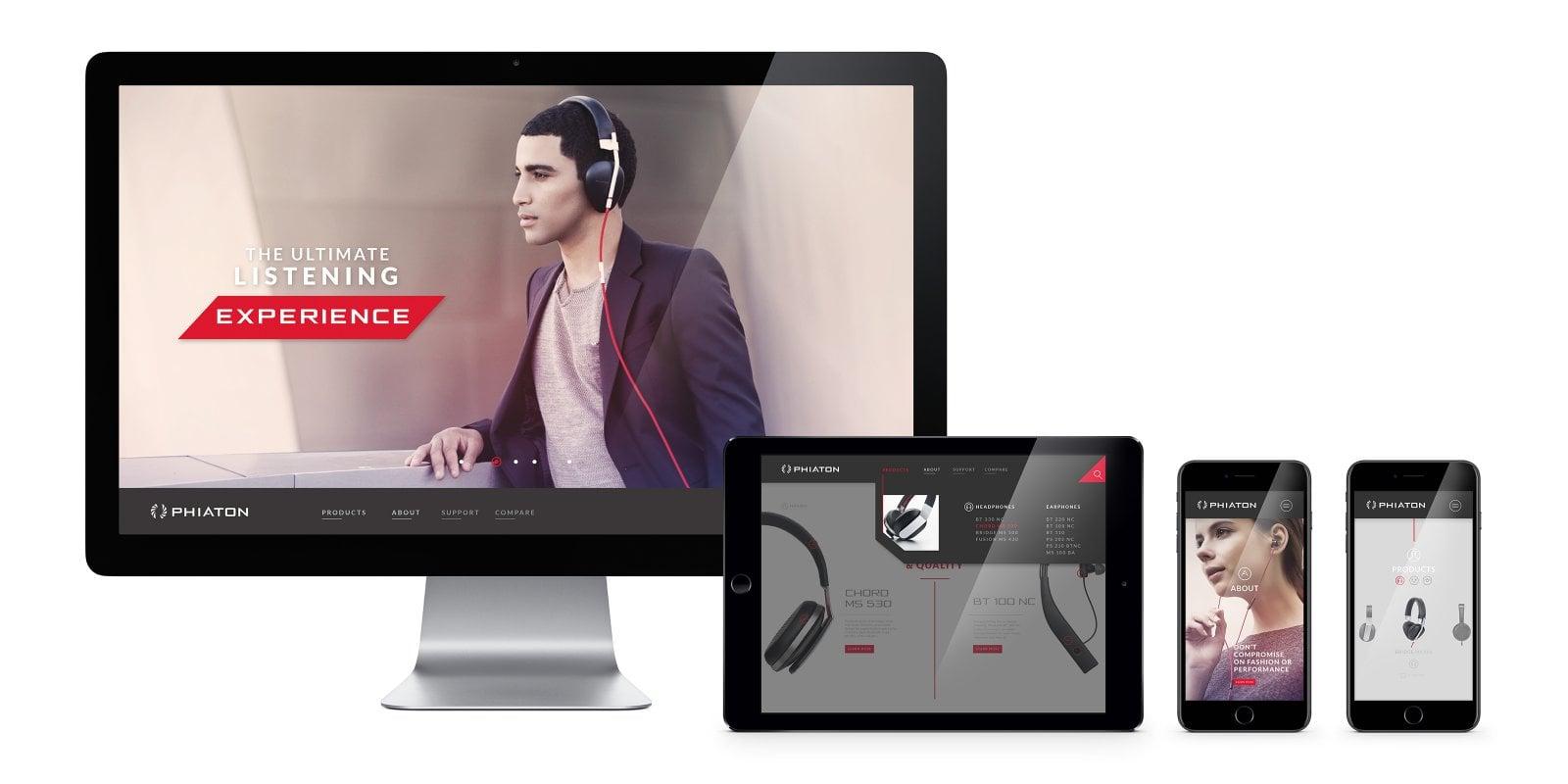 Phiaton Headphones Website-Banner Image